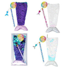 Load image into Gallery viewer, Reversible Sequin Mermaid Stationery