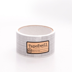 Crosshatch decorative packing tape
