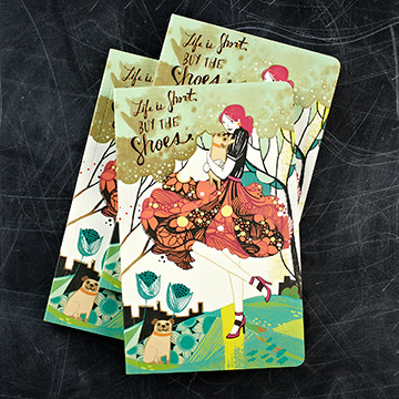 Life Is Short Buy The Shoes Notebook