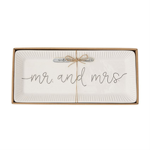 Load image into Gallery viewer, Mr. & Mrs. Hostess Tray Set