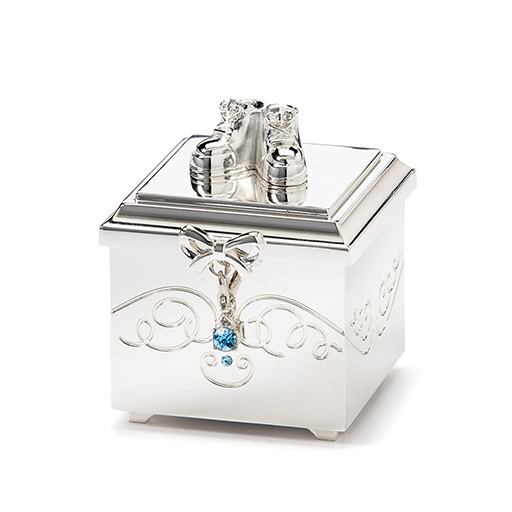 Birthstone March Charm Keepsake Box