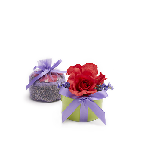 Organic Ravishing Red Tea Rose & Lavender Sachet
