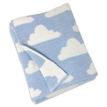 Load image into Gallery viewer, Blue Clouds Chenille Blanket