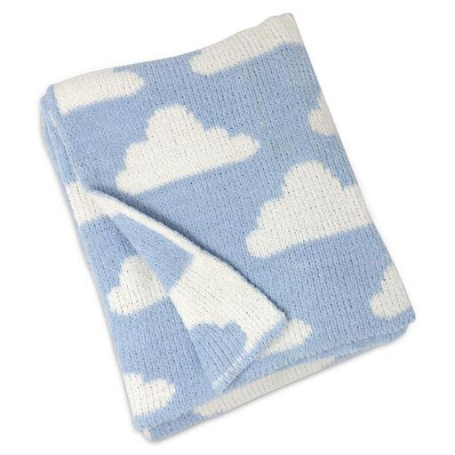 Blue Clouds Chenille Blanket