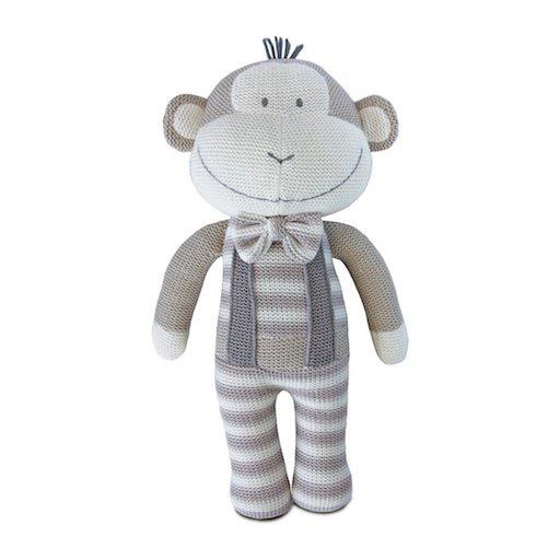Joe The Monkey Knitted Toy