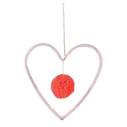 Wire & Wool Heart Decoration