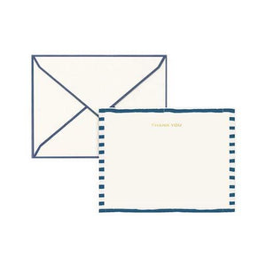 Thank You Card Set - Classic Blue Pattern