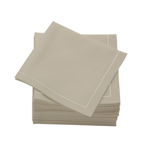 Cotton Folded Napkins Sand