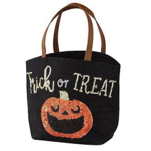 Load image into Gallery viewer, Trick Or Treat Halloween Dazzle Tote Bag