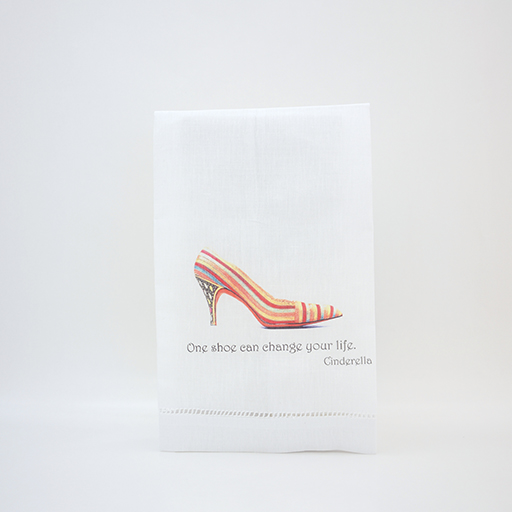 Linen Guest Towel-One Shoe Can