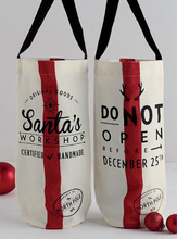 Load image into Gallery viewer, Santa's Workshop Bottle Totes
