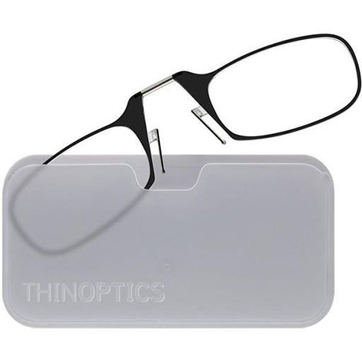 Black Glasses w/ Clear Case