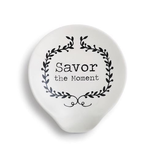 Savor the Moment Ceramic Spoon Rest