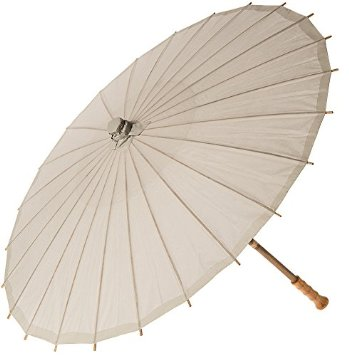 "28"" Paper Parasol - Feather Grey"