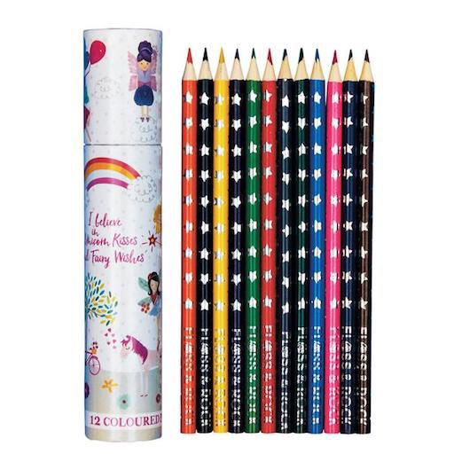 Fairy Unicorn Colored Pencils Pack of 12 in Tube