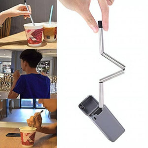 Foldable Stainless Straw Kit