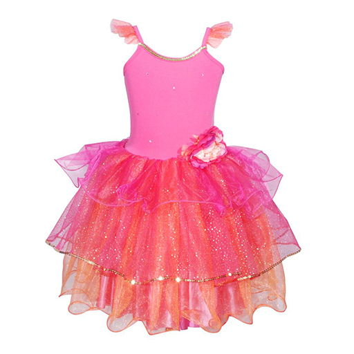 Peony Flower Fairy Dress Size 3/4-Hot Pink