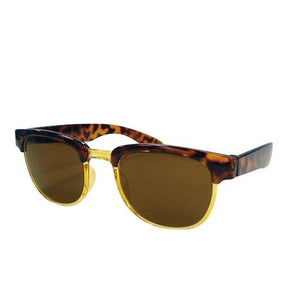 Kids Sunglasses Half Rim Brown
