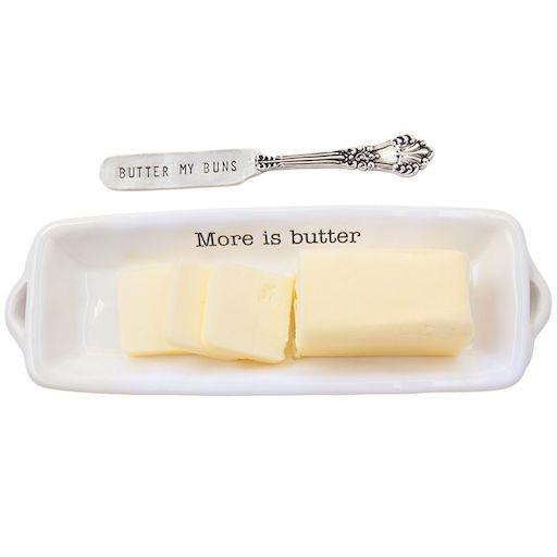 More is Butter Dish with Spreader