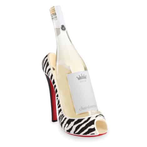 High Heel Bottle Holder Zebra