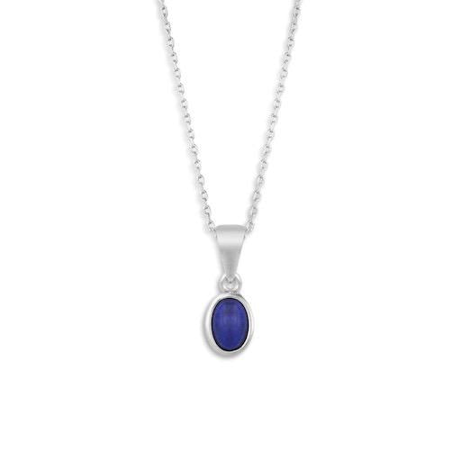 Silver Giving Necklace with Blue Lapis Pendant