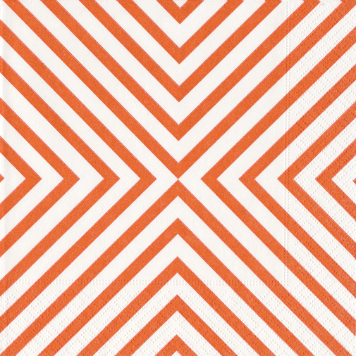 Cocktail Napkins-Chevron Coral