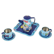 Load image into Gallery viewer, Construction Tea Set 7 Pc Tin In Square