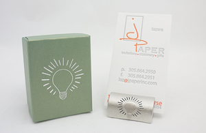 Light Bulb Business Card Holder