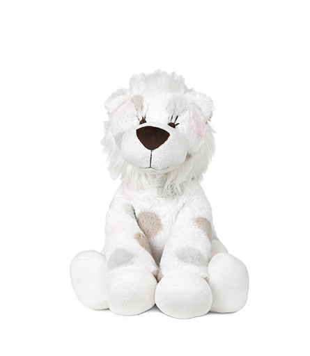 Little Lion Plush Toy Pink Dot