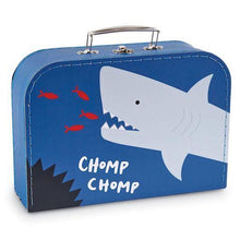 Load image into Gallery viewer, Printed Shark Nested Suitcase Set