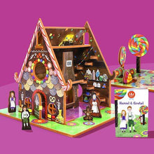 Load image into Gallery viewer, Hansel and Gretel Book and Play Set