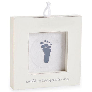White Hand And Foot Print Frame