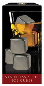 Stainless Steel Ice Cubes Set of 4