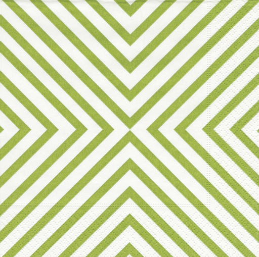 Cocktail Napkins-Chevron Green