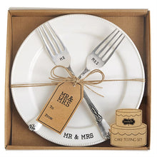 Load image into Gallery viewer, Mr. & Mrs. Plate and Fork Set