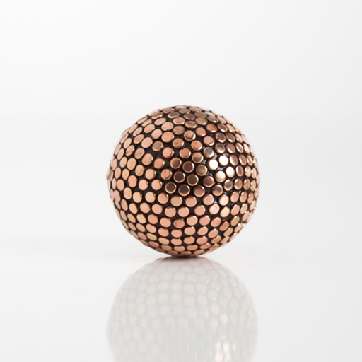 "Copper Studded Decor 4"" Ball Large"