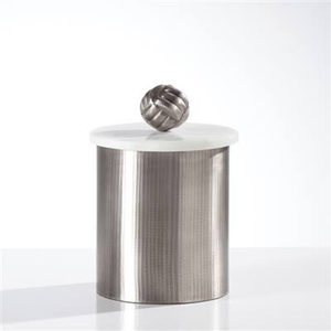 Tomar Antique Pewter Ribbed Canister - Medium