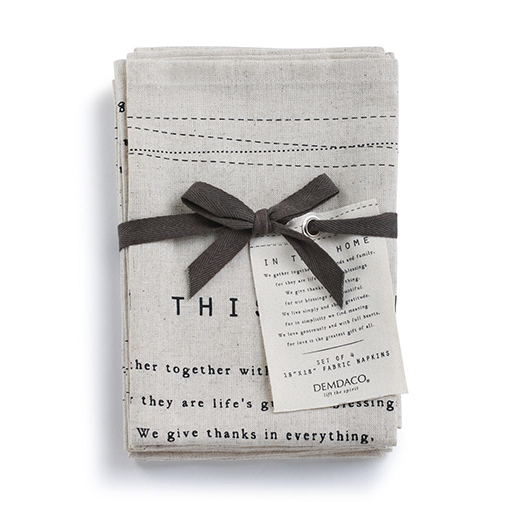 In This Home Napkins Set of 4