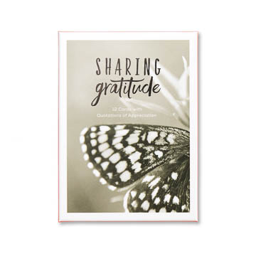 Sharing Gratitude Note Card Set of 12