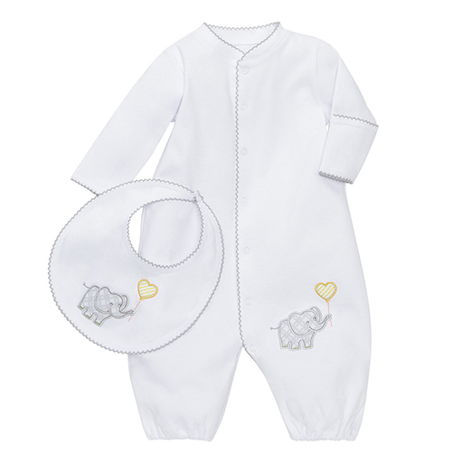 Elephant Gown and Bib Set