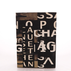 Text Collage Book Boxes (Set of 3)