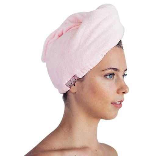 Blush Microfiber Hair Towel
