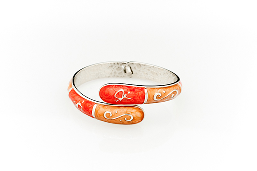 Bangle Hanger-Classic Pursehook Peach and Coral