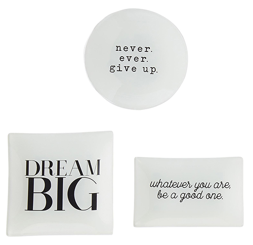 Inspirational Glass Trays