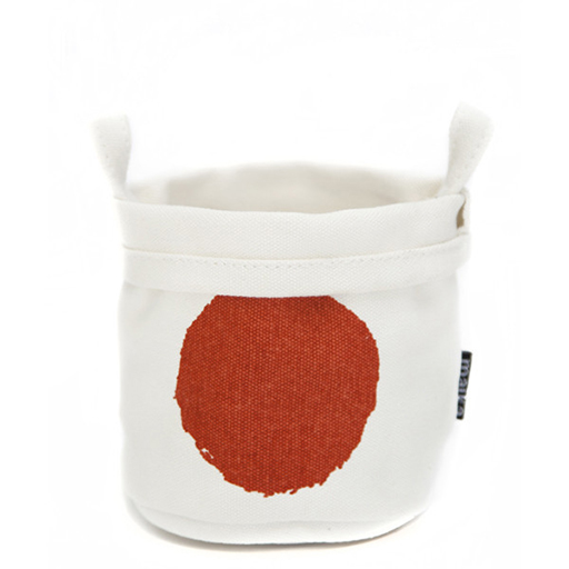 Recycled Canvas Bucket, Luna Tangerine, Small