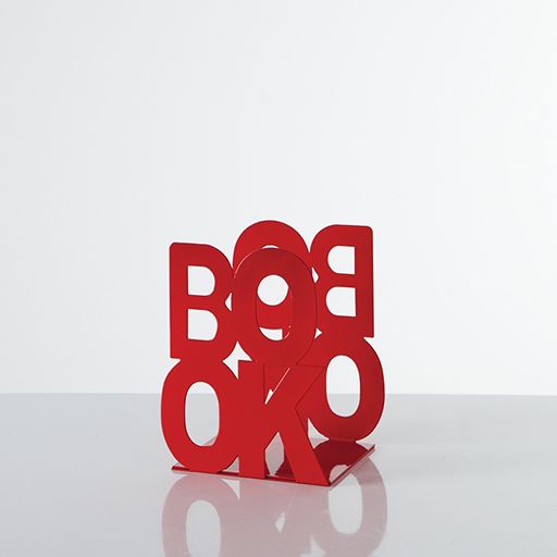 Cutout Red Bookends