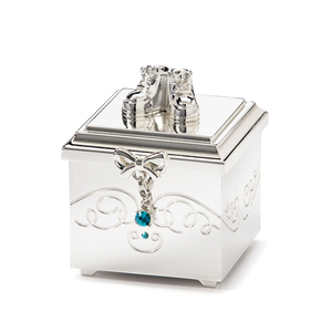 Birthstone December Charm Keepsake Box