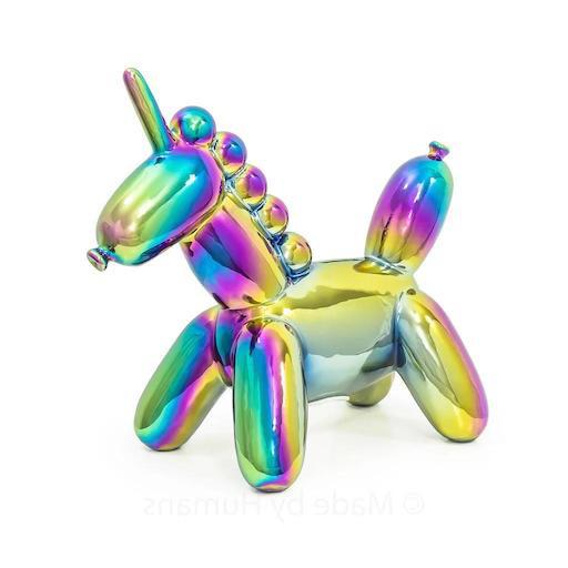 Large Rainbow Unicorn Balloon Money Bank
