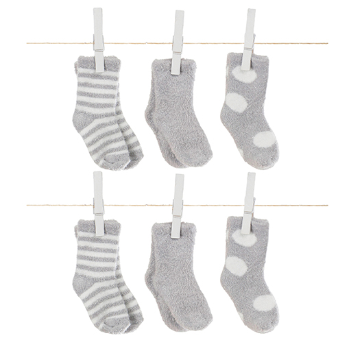 Box of Socks- Dot, Solid, Stripe Silver