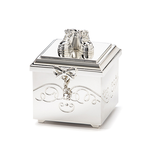 Birthstone April Charm Keepsake Box
